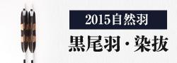 2015自然羽 黒尾羽・染抜